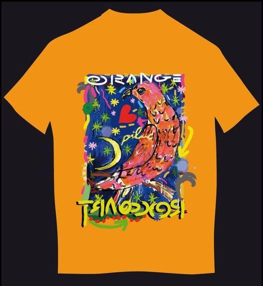 T shirt orange